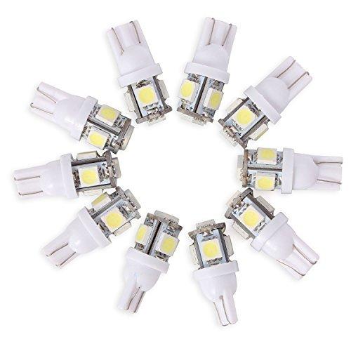 neuftech 10 x t10 auto kfz 194 168 5050 5 smd led standlicht lampe birne licht wei 12v marsoy. Black Bedroom Furniture Sets. Home Design Ideas