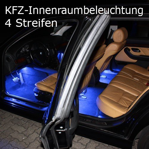 4er set rgb led kfz fussraumbeleuchtung innenraumbeleuchtung marsoy. Black Bedroom Furniture Sets. Home Design Ideas