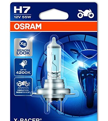 osram x racer h7 halogen motorrad scheinwerferlampe. Black Bedroom Furniture Sets. Home Design Ideas