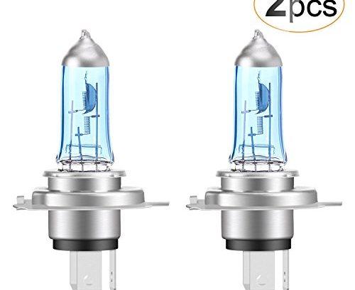 agptek h4 halogen scheinwerferlampe 12v 60w 55w 6000k. Black Bedroom Furniture Sets. Home Design Ideas